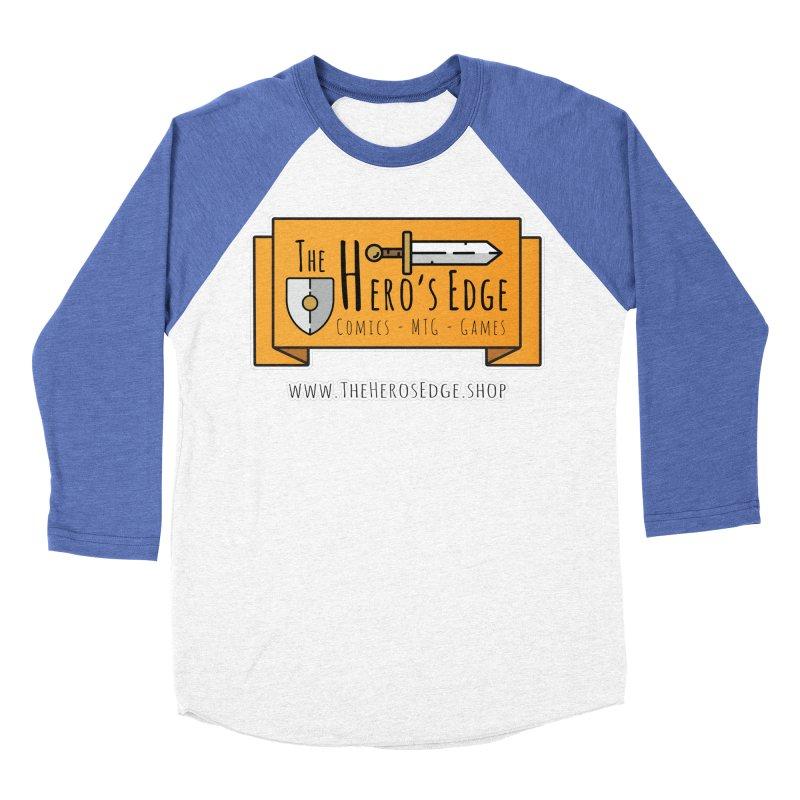 The Hero's Edge Website Banner Men's Baseball Triblend Longsleeve T-Shirt by The Hero's Edge