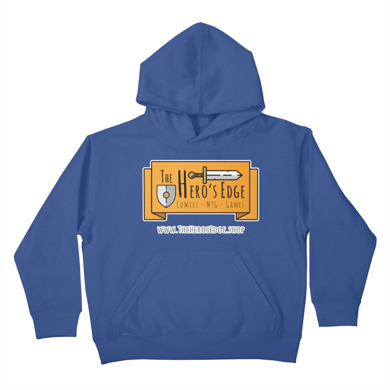 The Hero's Edge Website Banner Kids Pullover Hoody by The Hero's Edge