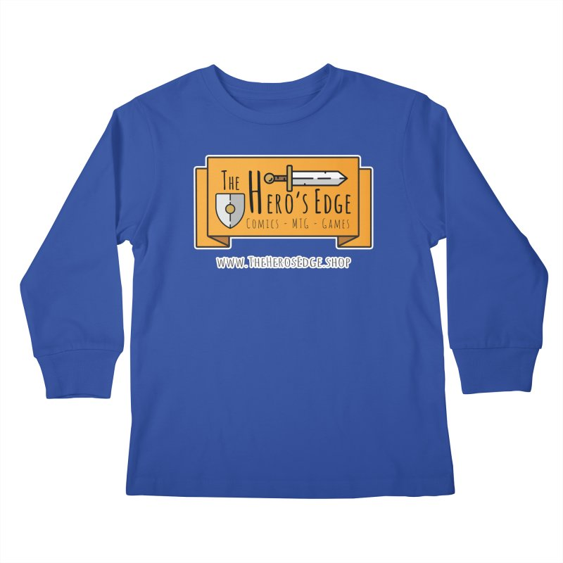 The Hero's Edge Website Banner Kids Longsleeve T-Shirt by The Hero's Edge
