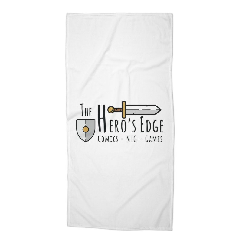 The Hero's Edge Logo Dark on Light Accessories Beach Towel by The Hero's Edge