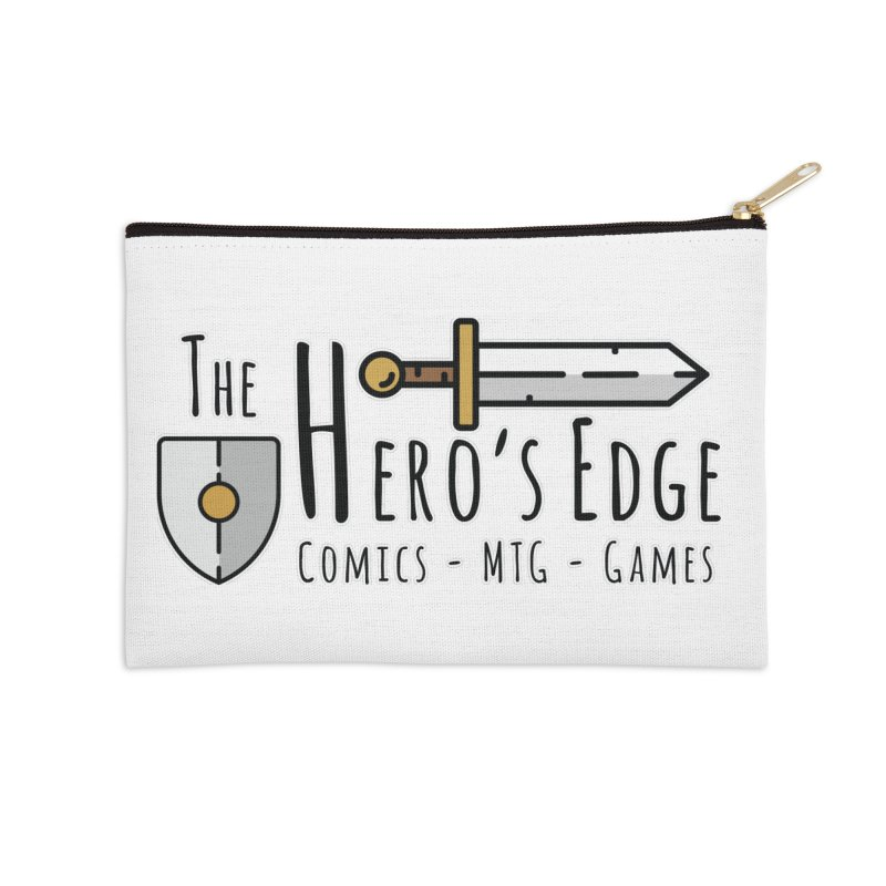 The Hero's Edge Logo Dark on Light Accessories Zip Pouch by The Hero's Edge