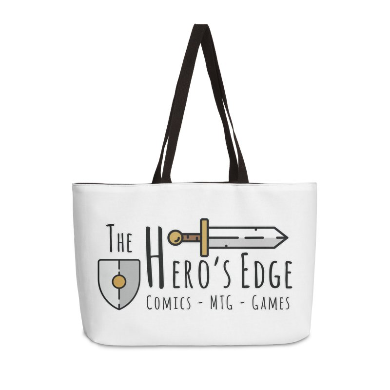 The Hero's Edge Logo Dark on Light Accessories Weekender Bag Bag by The Hero's Edge