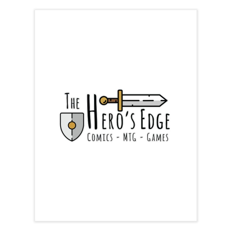 The Hero's Edge Logo Dark on Light Home Fine Art Print by The Hero's Edge