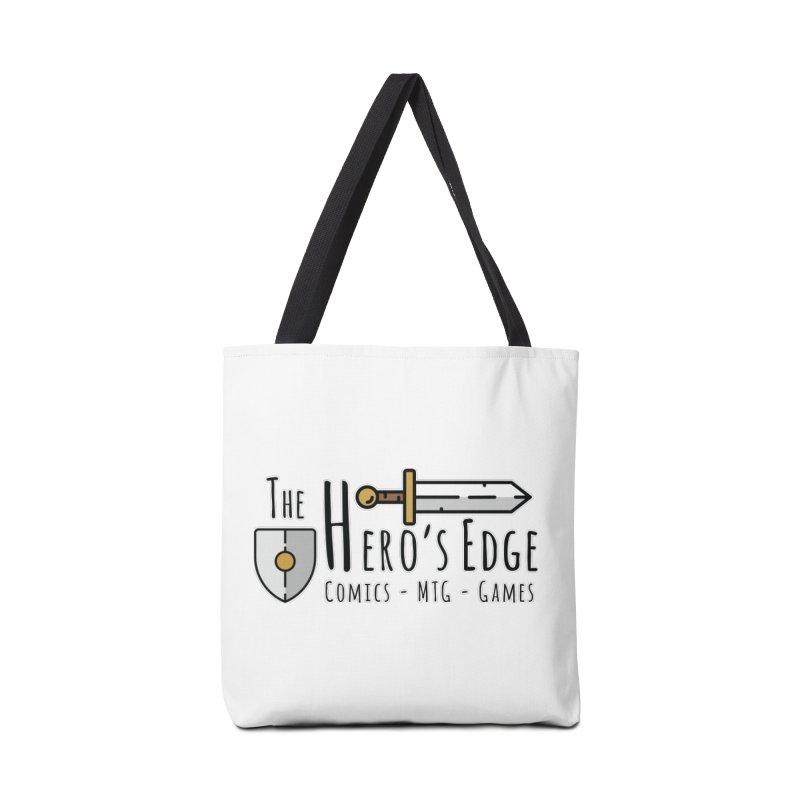 The Hero's Edge Logo Dark on Light Accessories Tote Bag Bag by The Hero's Edge
