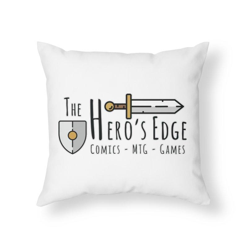 The Hero's Edge Logo Dark on Light Home Throw Pillow by The Hero's Edge