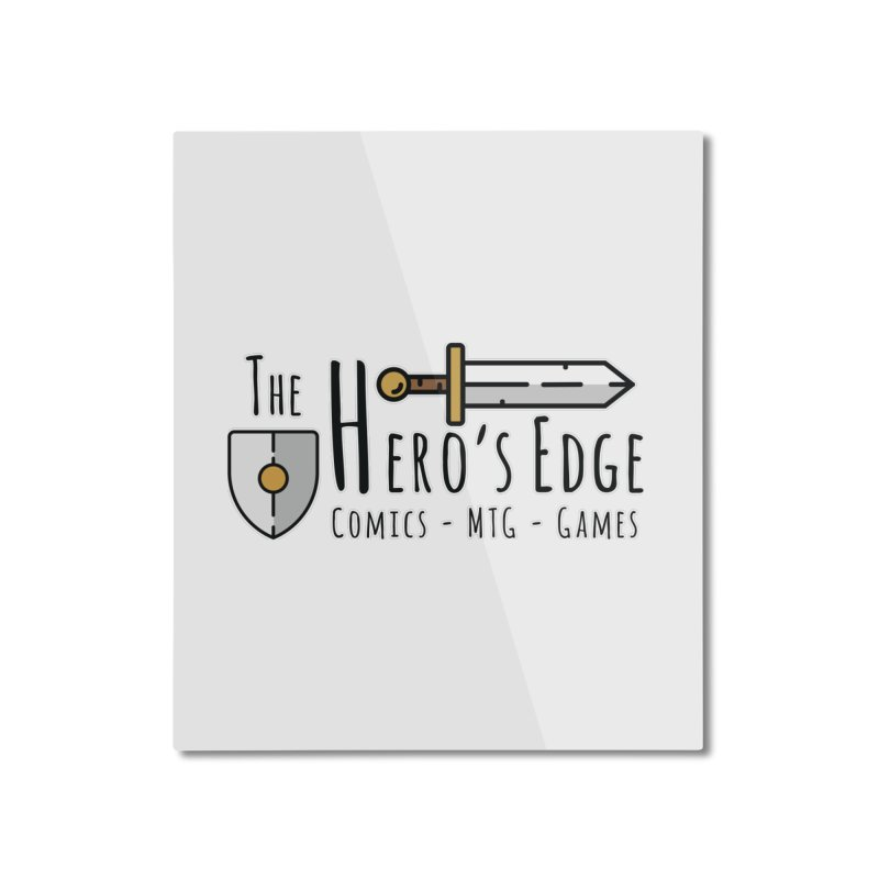 The Hero's Edge Logo Dark on Light Home Mounted Aluminum Print by The Hero's Edge