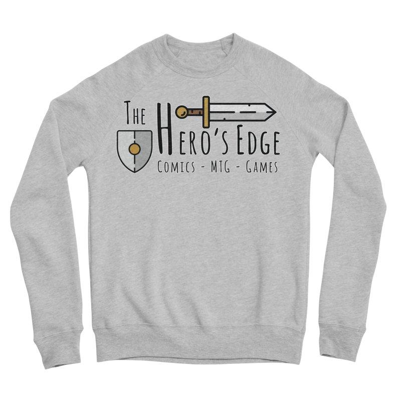 The Hero's Edge Logo Dark on Light Men's Sponge Fleece Sweatshirt by The Hero's Edge