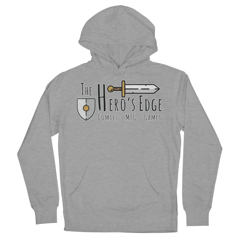The Hero's Edge Logo Dark on Light Men's French Terry Pullover Hoody by The Hero's Edge