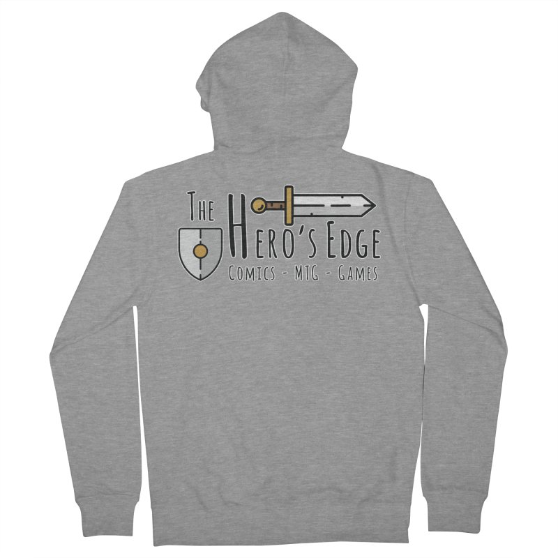 The Hero's Edge Logo Dark on Light Men's French Terry Zip-Up Hoody by The Hero's Edge