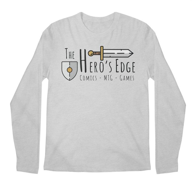 The Hero's Edge Logo Dark on Light Men's Regular Longsleeve T-Shirt by The Hero's Edge