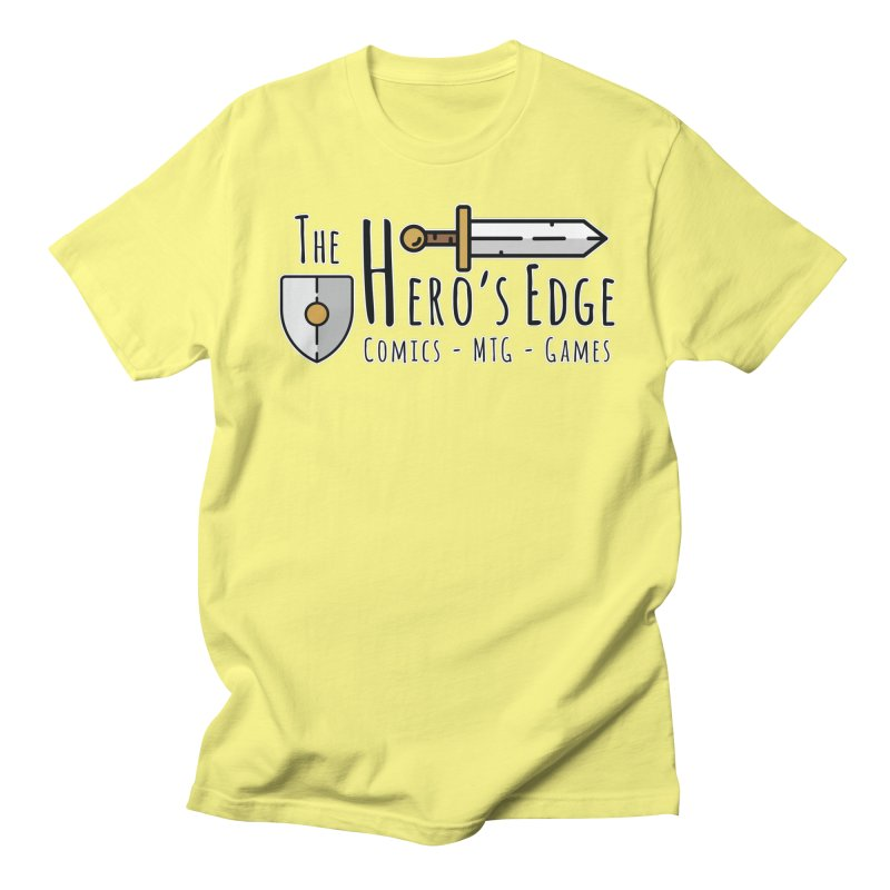 The Hero's Edge Logo Dark on Light Men's Regular T-Shirt by The Hero's Edge