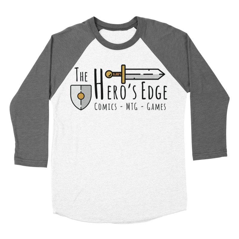 The Hero's Edge Logo Dark on Light Women's Baseball Triblend Longsleeve T-Shirt by The Hero's Edge