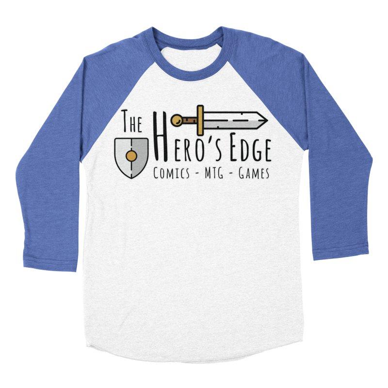 The Hero's Edge Logo Dark on Light Men's Baseball Triblend Longsleeve T-Shirt by The Hero's Edge