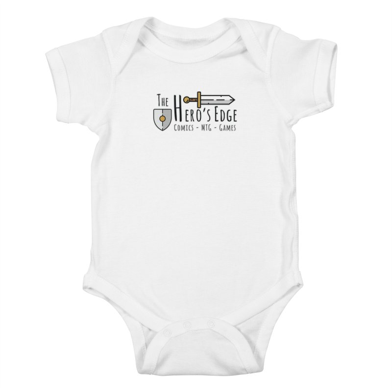 The Hero's Edge Logo Dark on Light Kids Baby Bodysuit by The Hero's Edge
