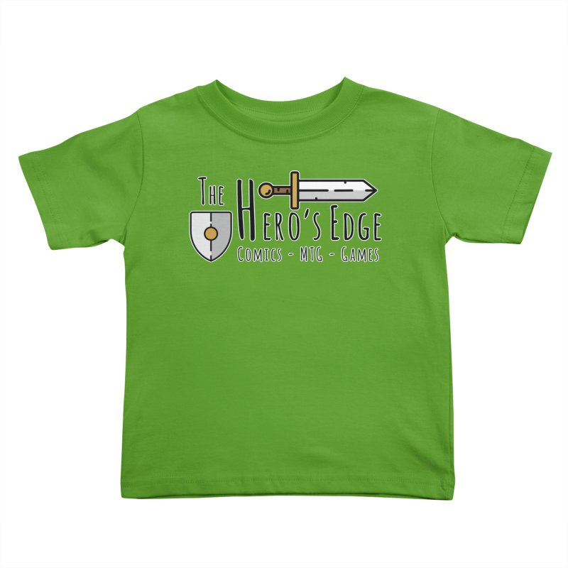 The Hero's Edge Logo Dark on Light Kids Toddler T-Shirt by The Hero's Edge