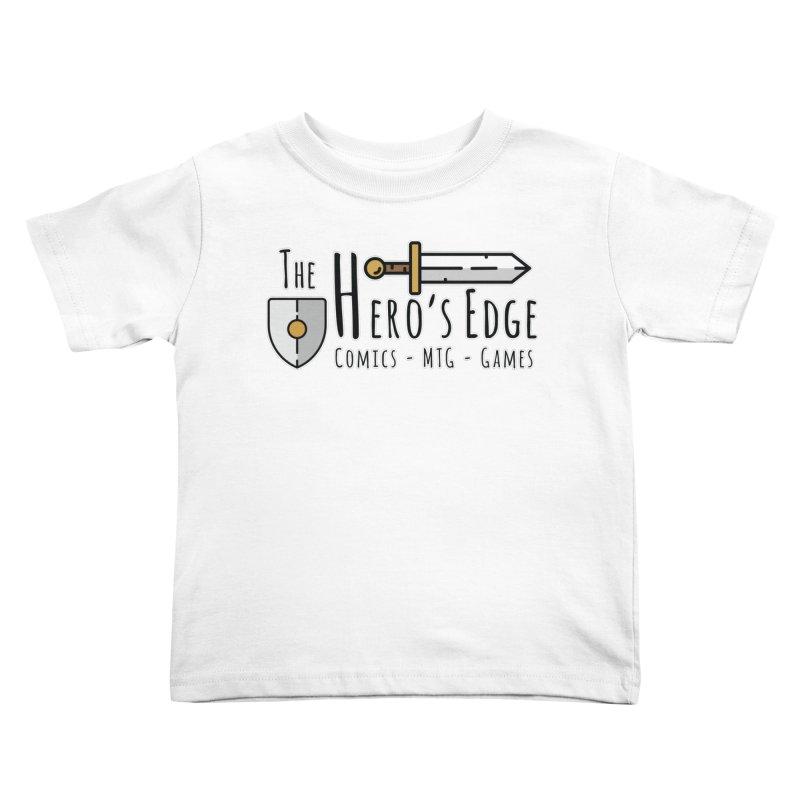 The Hero's Edge Logo Dark on Light Kids Toddler T-Shirt by The Hero's Edge