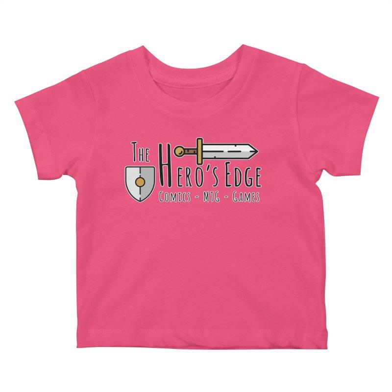 The Hero's Edge Logo Dark on Light Kids Baby T-Shirt by The Hero's Edge