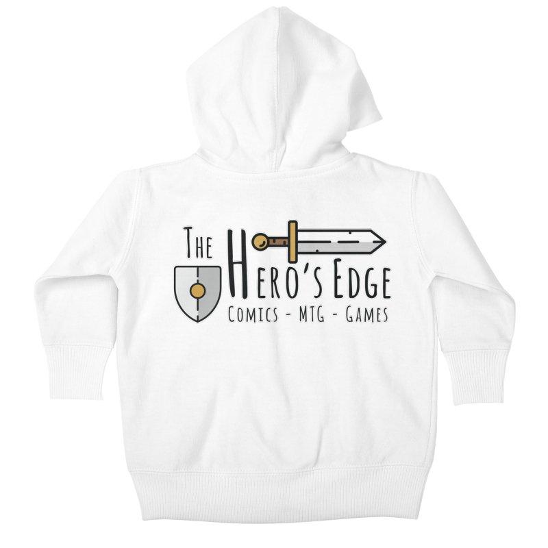 The Hero's Edge Logo Dark on Light Kids Baby Zip-Up Hoody by The Hero's Edge