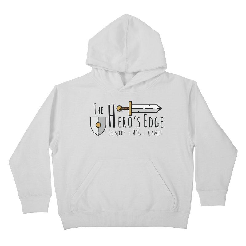 The Hero's Edge Logo Dark on Light Kids Pullover Hoody by The Hero's Edge