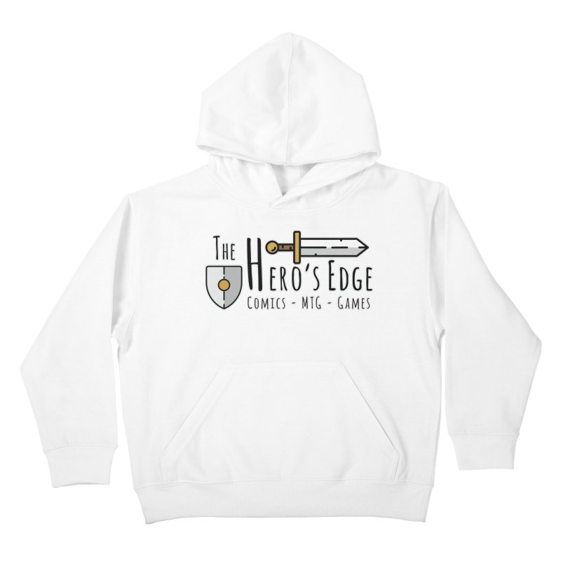 The Hero's Edge Logo Dark on Light Kids Pullover Hoody by The Hero's Edge