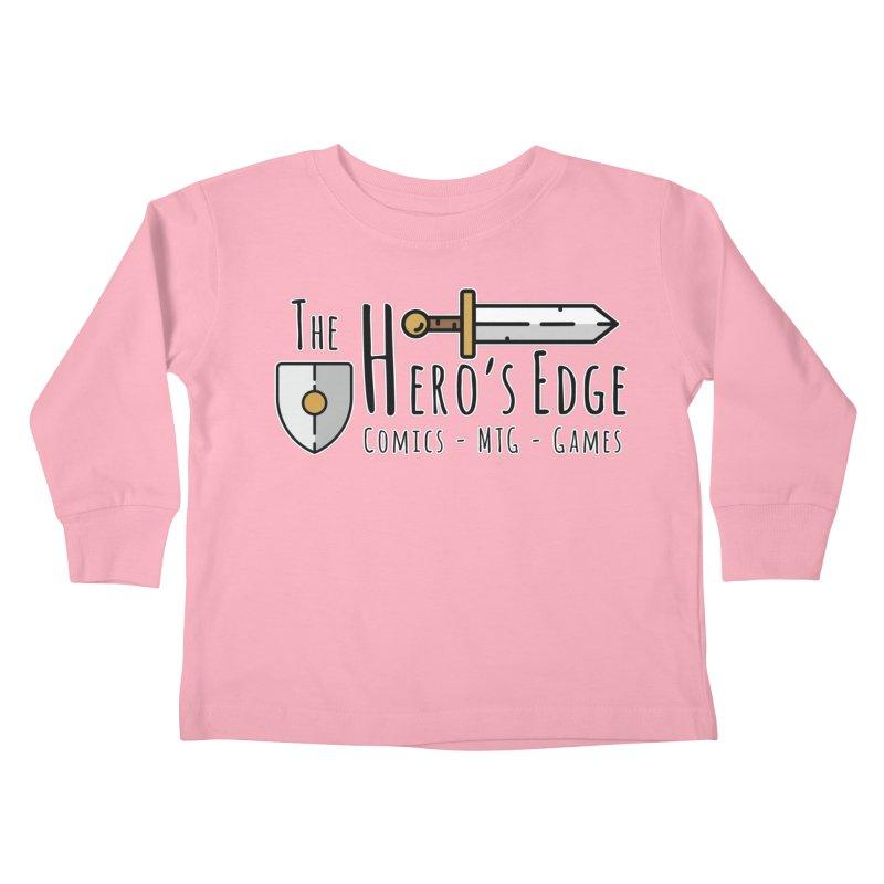The Hero's Edge Logo Dark on Light Kids Toddler Longsleeve T-Shirt by The Hero's Edge
