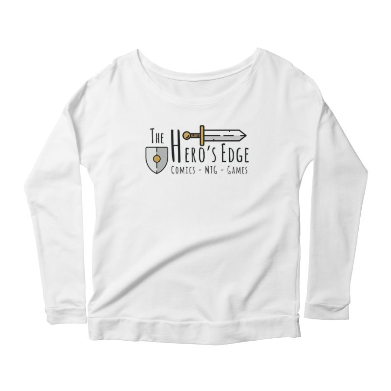 The Hero's Edge Logo Dark on Light Women's Scoop Neck Longsleeve T-Shirt by The Hero's Edge