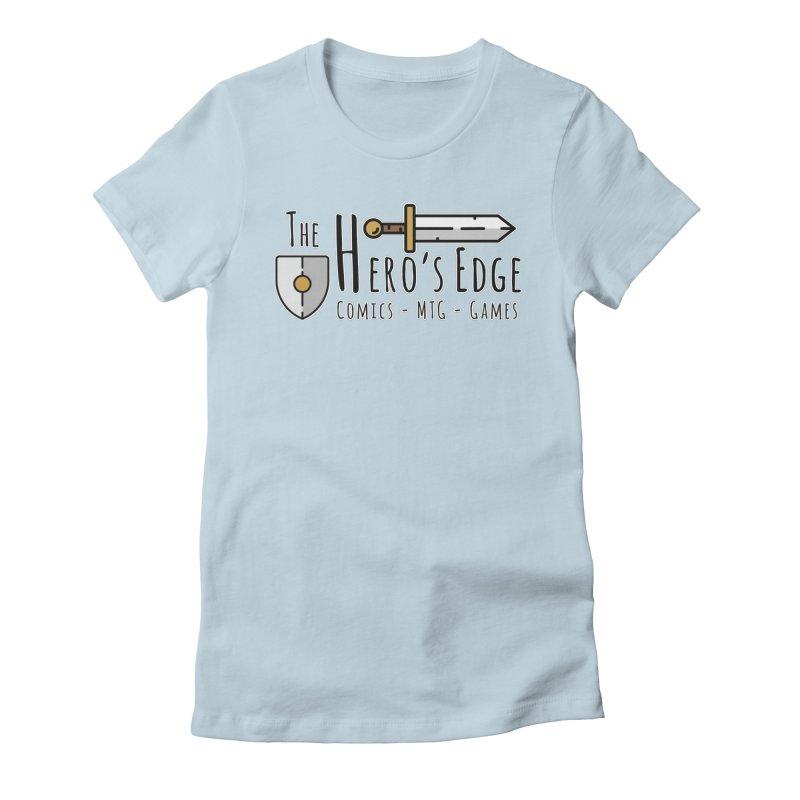 The Hero's Edge Logo Dark on Light Women's Fitted T-Shirt by The Hero's Edge