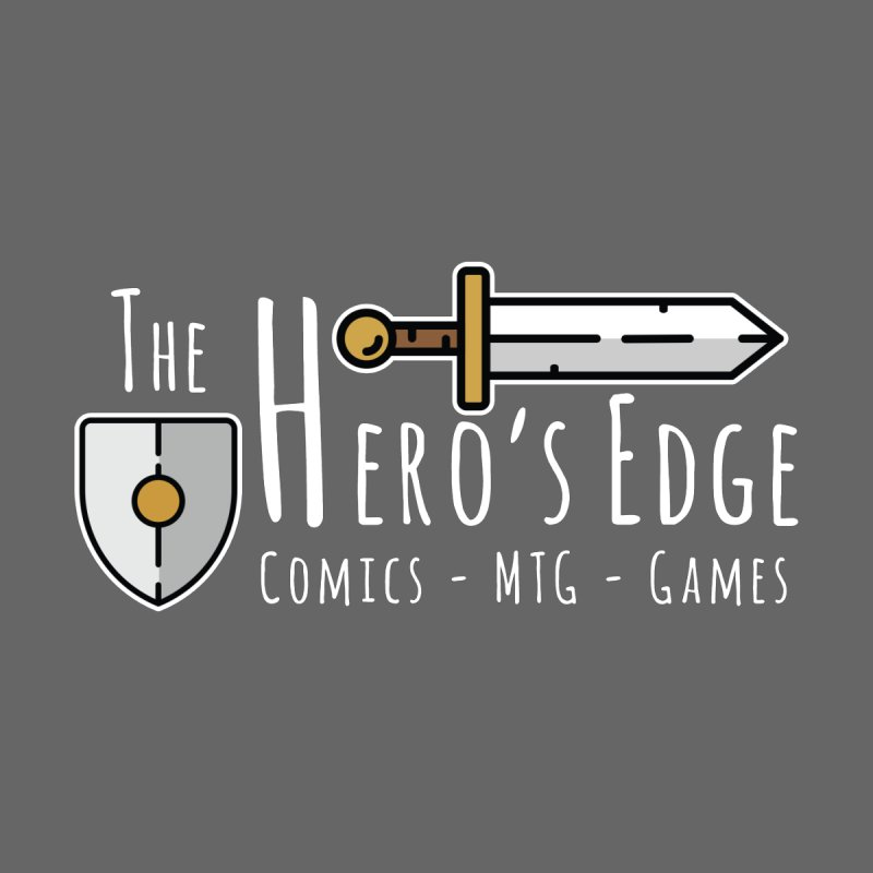 The Hero's Edge Logo Light on Dark Men's T-Shirt by The Hero's Edge