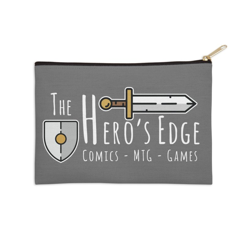 The Hero's Edge Logo Light on Dark Accessories Zip Pouch by The Hero's Edge