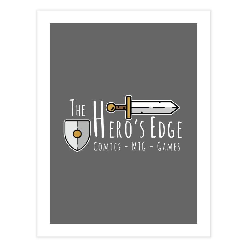 The Hero's Edge Logo Light on Dark Home Fine Art Print by The Hero's Edge