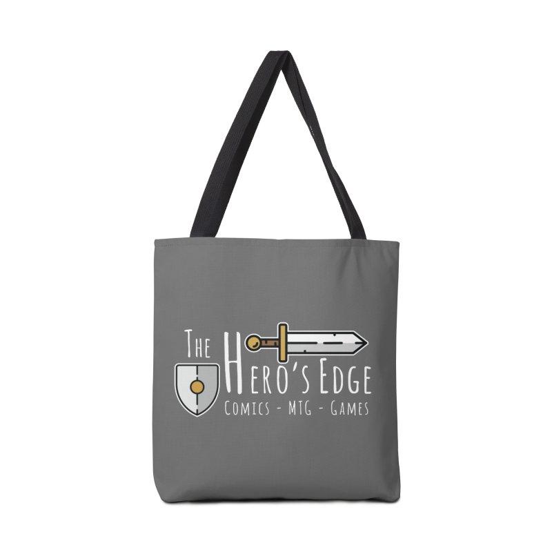 The Hero's Edge Logo Light on Dark Accessories Tote Bag Bag by The Hero's Edge