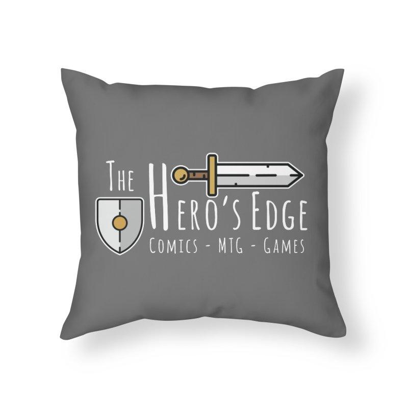 The Hero's Edge Logo Light on Dark Home Throw Pillow by The Hero's Edge