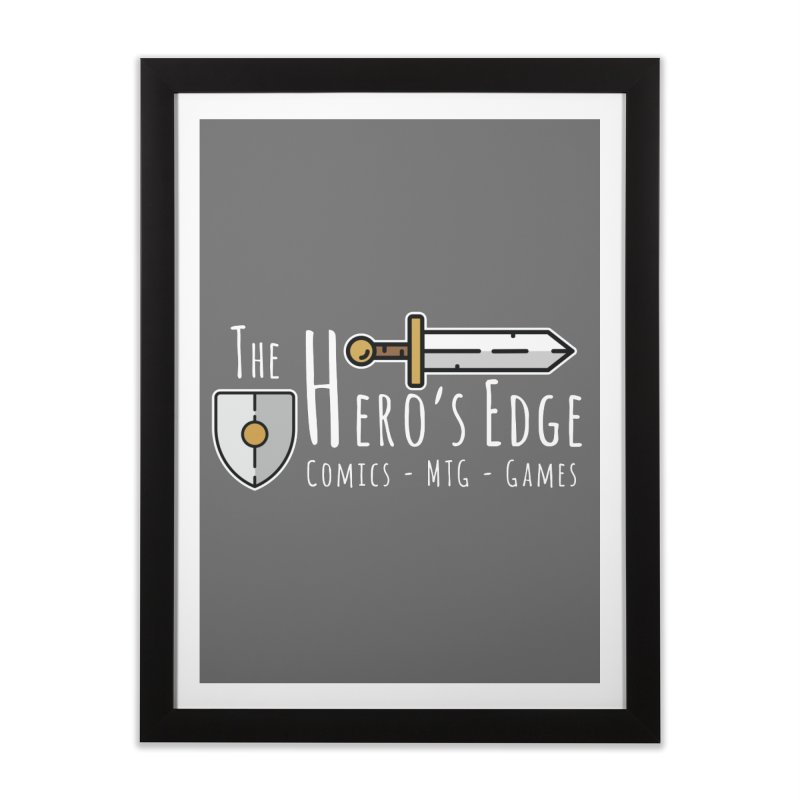 The Hero's Edge Logo Light on Dark Home Framed Fine Art Print by The Hero's Edge