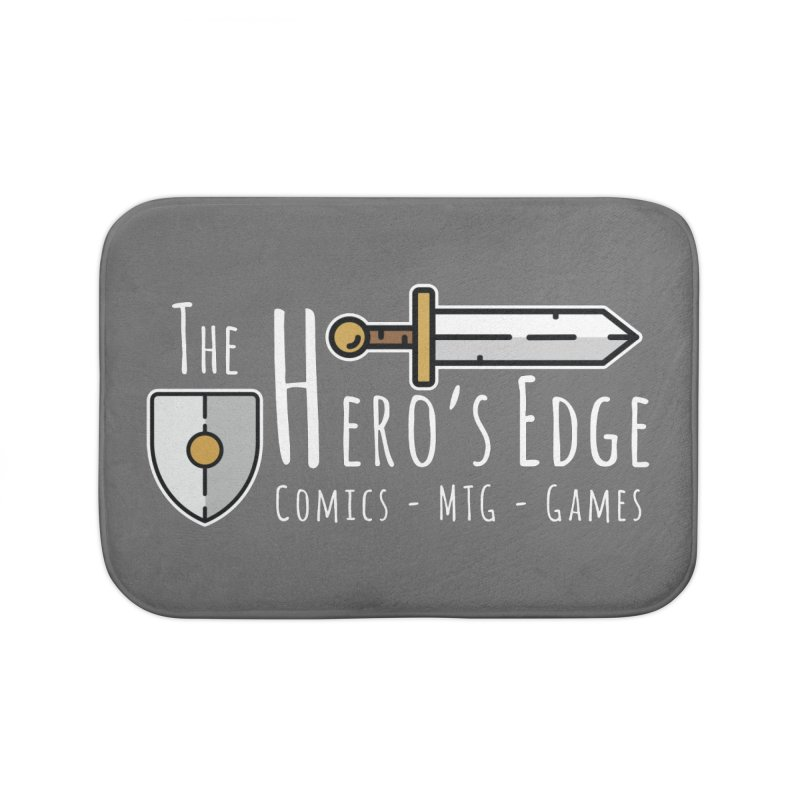 The Hero's Edge Logo Light on Dark Home Bath Mat by The Hero's Edge