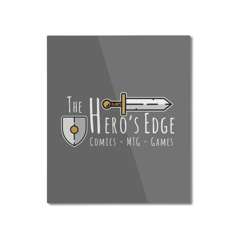 The Hero's Edge Logo Light on Dark Home Mounted Aluminum Print by The Hero's Edge