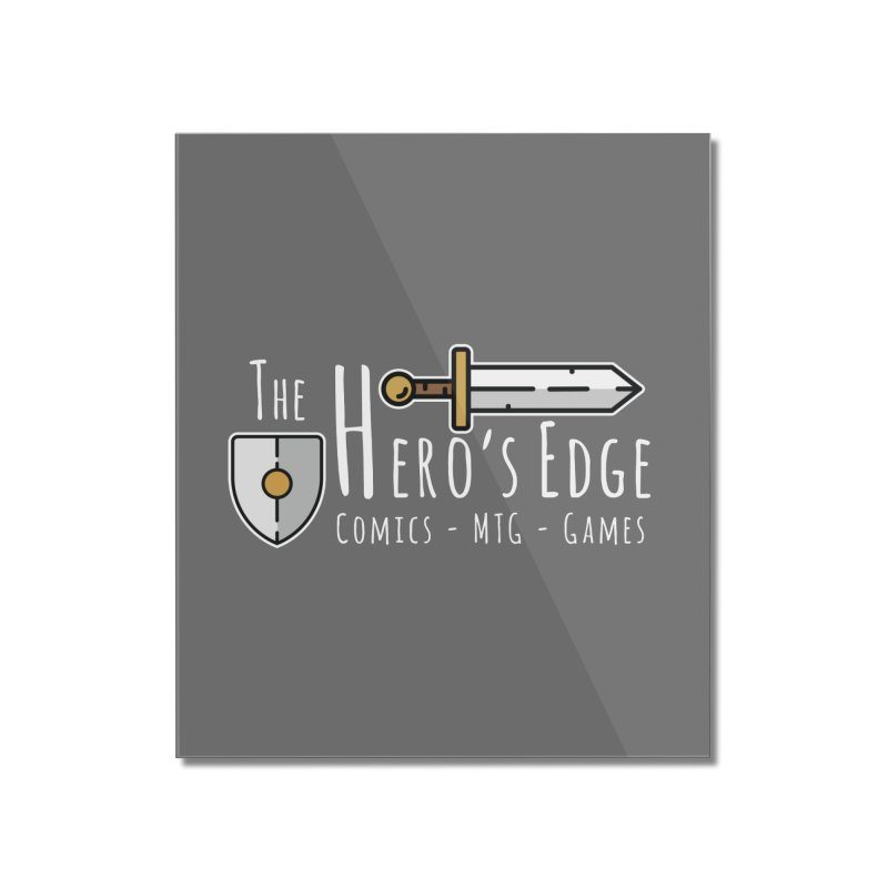 The Hero's Edge Logo Light on Dark Home Mounted Acrylic Print by The Hero's Edge