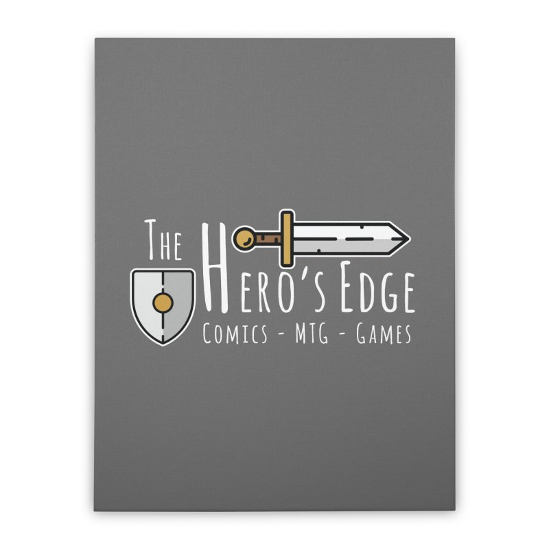 The Hero's Edge Logo Light on Dark Home Stretched Canvas by The Hero's Edge