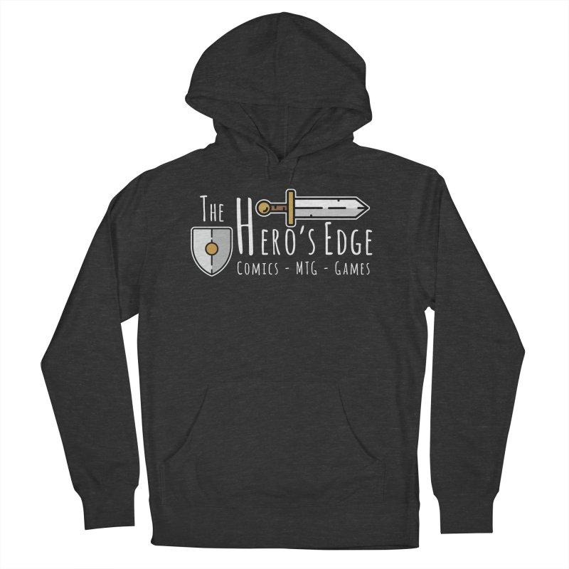 The Hero's Edge Logo Light on Dark Men's French Terry Pullover Hoody by The Hero's Edge