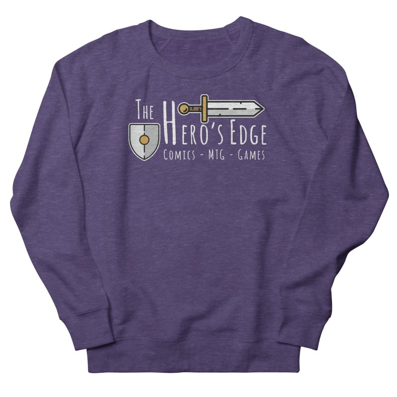 The Hero's Edge Logo Light on Dark Men's French Terry Sweatshirt by The Hero's Edge