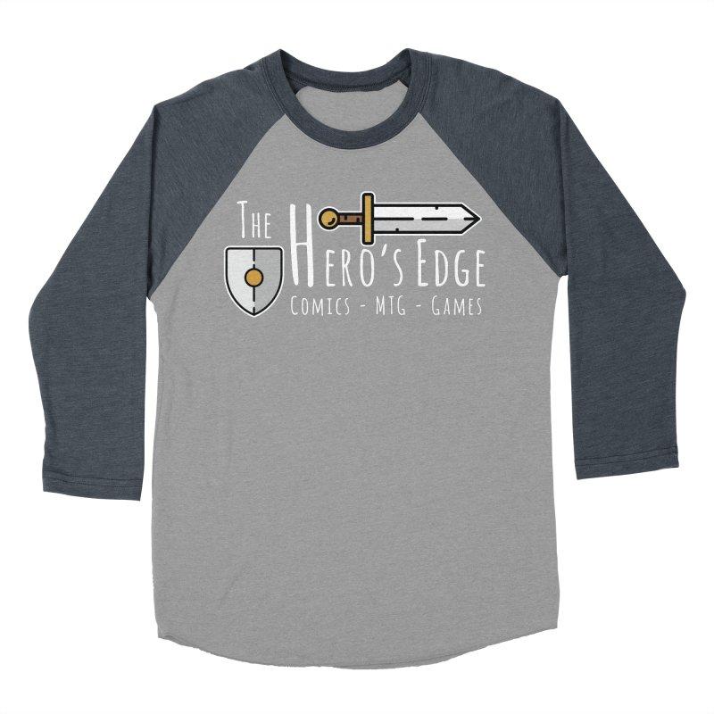 The Hero's Edge Logo Light on Dark Women's Baseball Triblend Longsleeve T-Shirt by The Hero's Edge