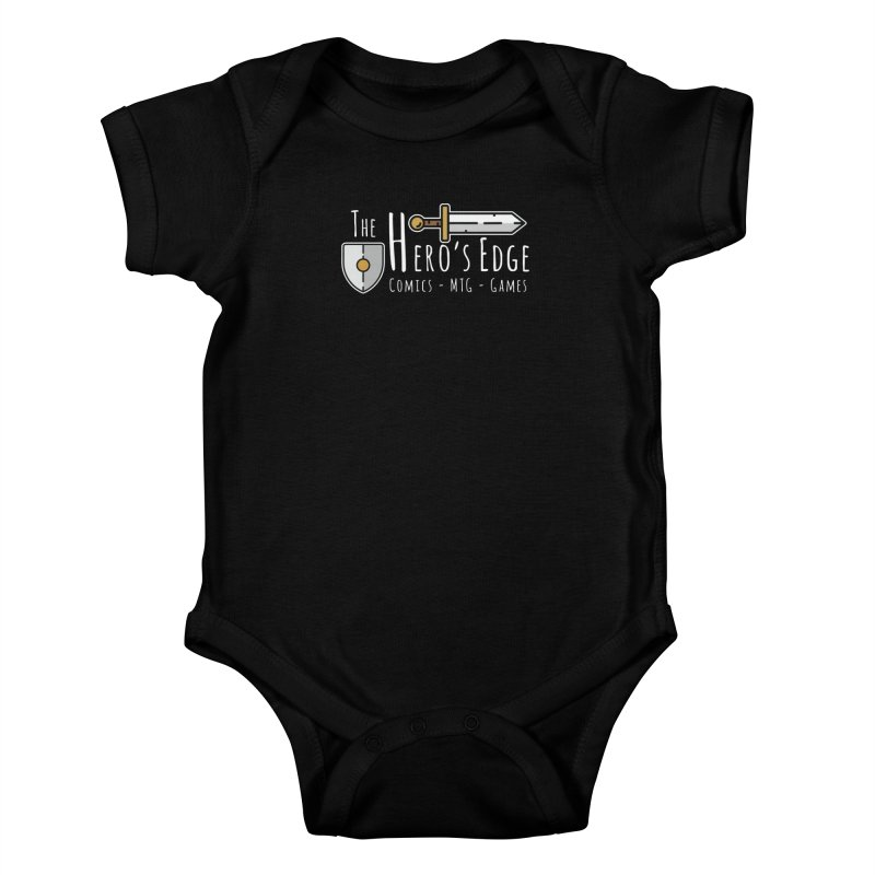 The Hero's Edge Logo Light on Dark Kids Baby Bodysuit by The Hero's Edge