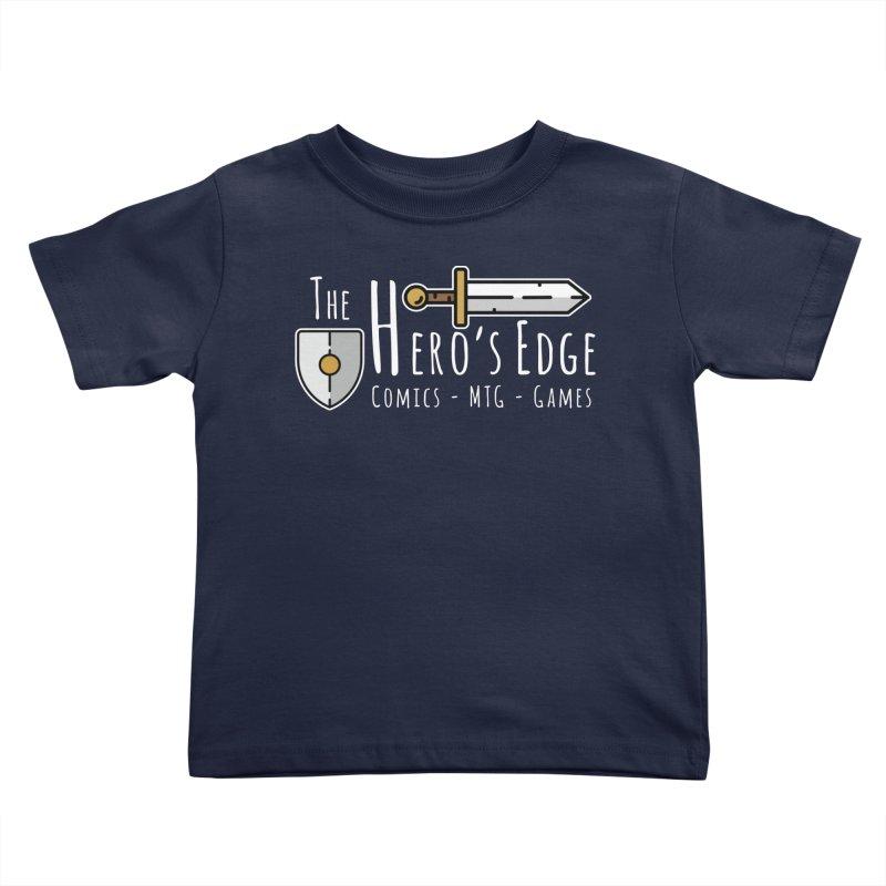 The Hero's Edge Logo Light on Dark Kids Toddler T-Shirt by The Hero's Edge