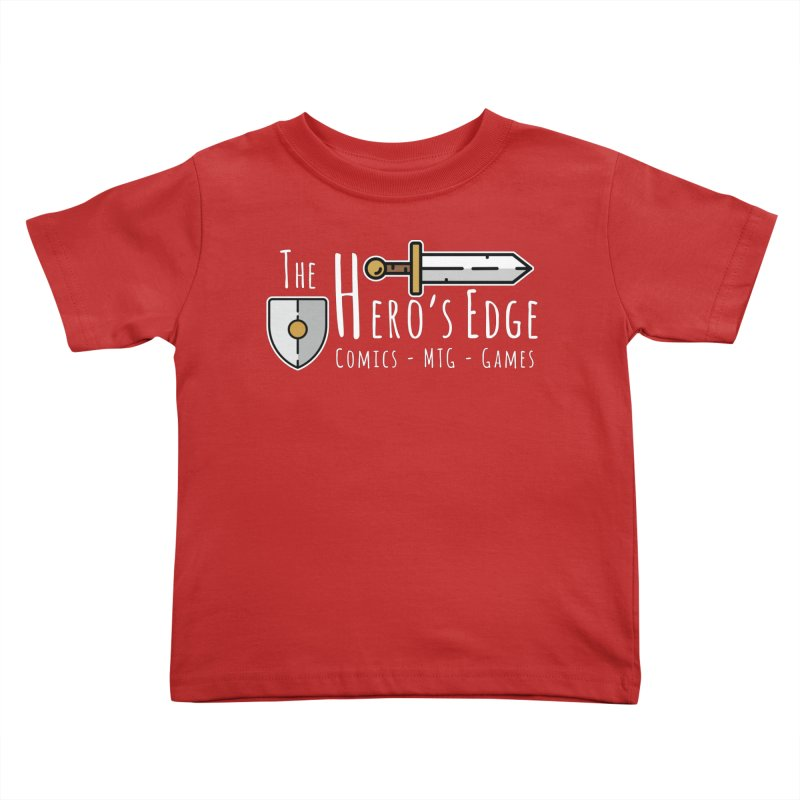The Hero's Edge Logo Light on Dark Kids Toddler T-Shirt by The Hero's Edge