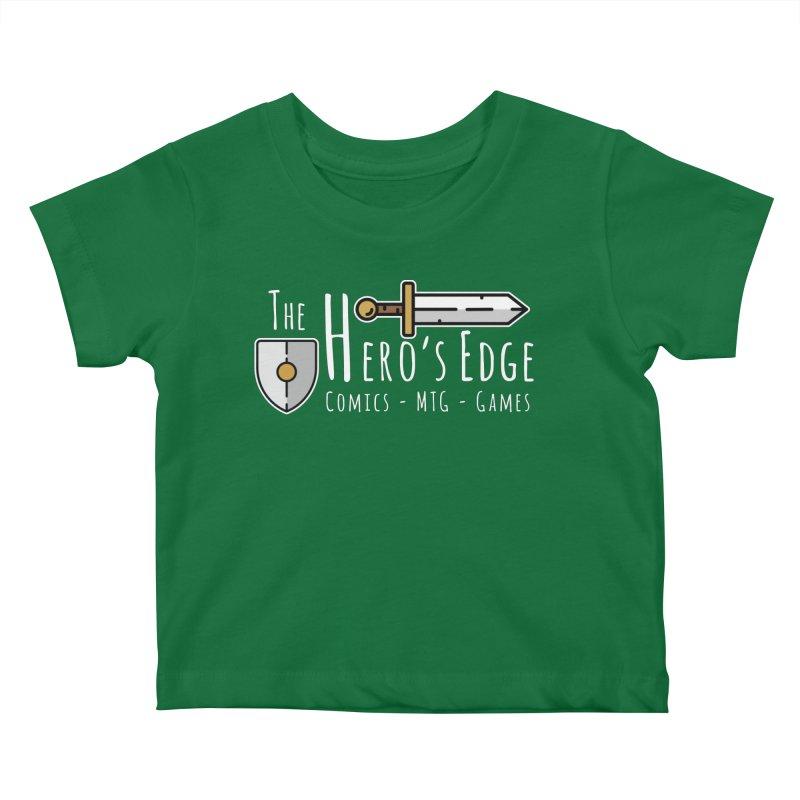 The Hero's Edge Logo Light on Dark Kids Baby T-Shirt by The Hero's Edge