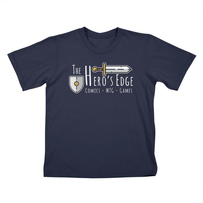 The Hero's Edge Logo Light on Dark Kids T-Shirt by The Hero's Edge
