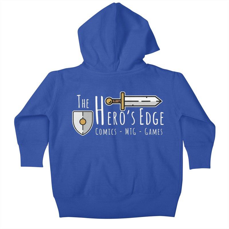 The Hero's Edge Logo Light on Dark Kids Baby Zip-Up Hoody by The Hero's Edge