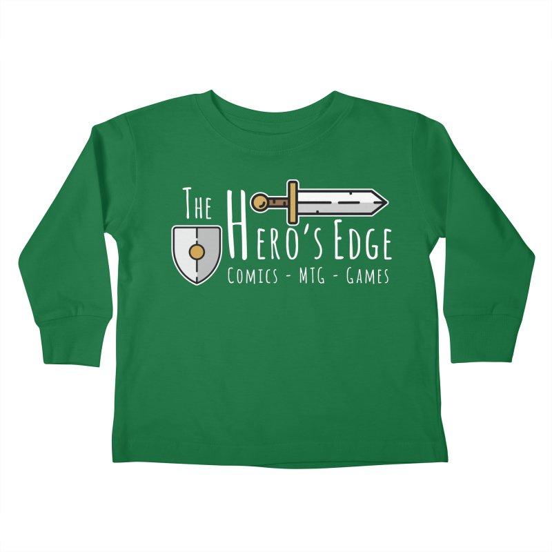 The Hero's Edge Logo Light on Dark Kids Toddler Longsleeve T-Shirt by The Hero's Edge