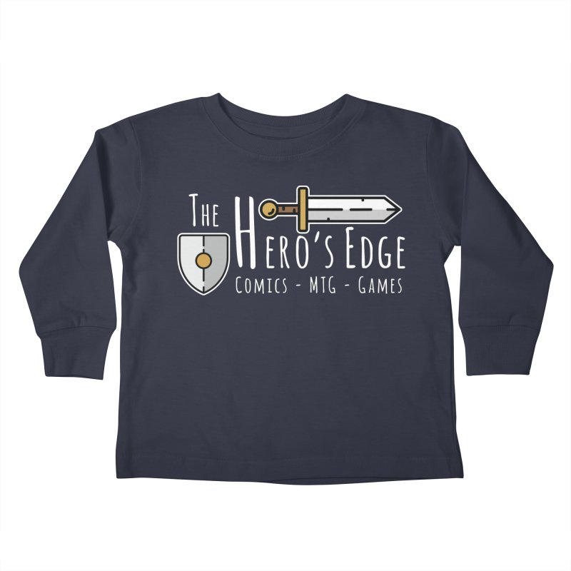 The Hero's Edge Logo Light on Dark Kids Toddler Longsleeve T-Shirt by The Hero's Edge