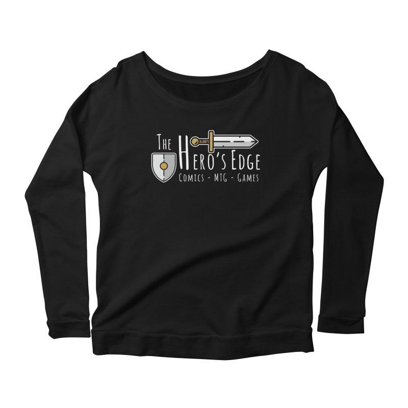 The Hero's Edge Logo Light on Dark Women's Scoop Neck Longsleeve T-Shirt by The Hero's Edge