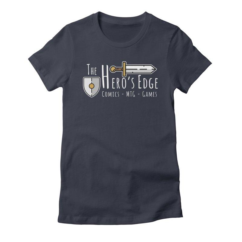 The Hero's Edge Logo Light on Dark Women's Fitted T-Shirt by The Hero's Edge